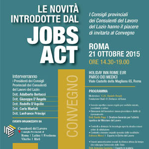21-10-2015 - LE NOVITA' DEL JOB-ACTS