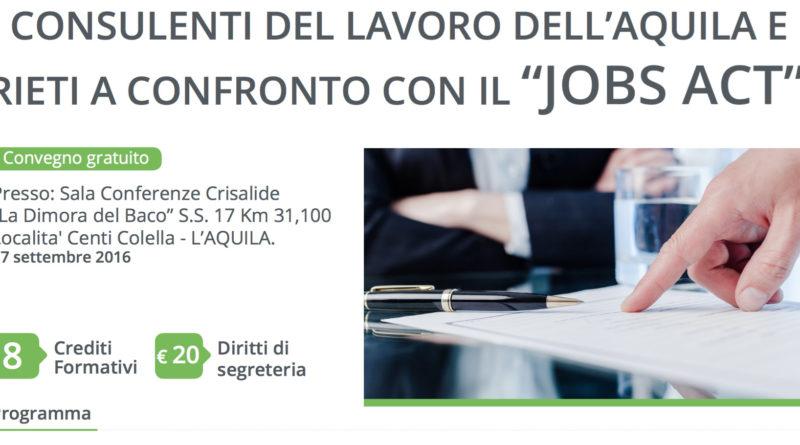 Convegno L'Aquila Jobs Act