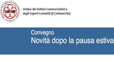 Civitavecchia, 21 Ottobre 2016: convegno sulle novità fiscali dopo la pausa estiva