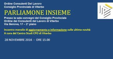 Parliamone Insieme 28-11-2016