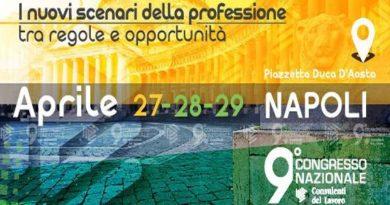 9° Congresso Nazionale Consulenti del Lavoro: programma e modalità di iscrizione