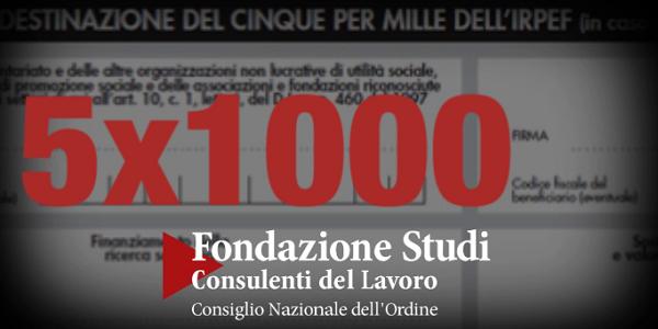 5x1000 alla Fondazione Studi