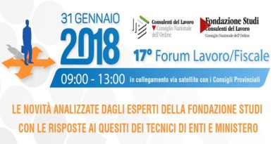 XVII Forum Lavoro
