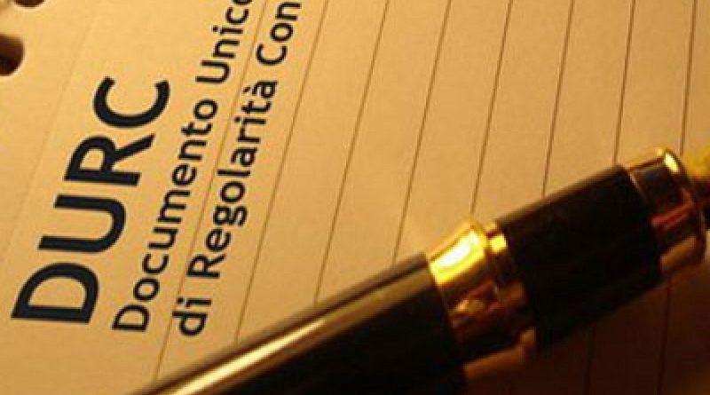 DURC Documento Unico Regolarità Contributiva